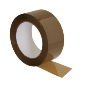 View B&Q Brown Packaging Tape (W)50mm (L)100m details