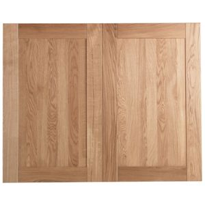 View Cooke & Lewis Solid Oak 600mm Larder Door, PACK E, Set of 2 details