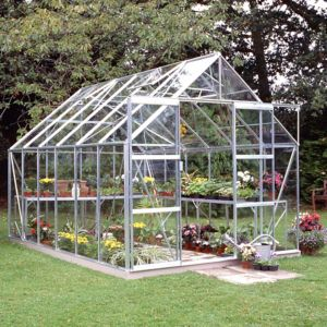 Image of B&Q Premier Metal 8x12 Horticultural glass greenhouse