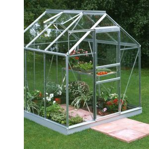 Image of B&Q Premier Metal 6x6 Toughened safety glass greenhouse
