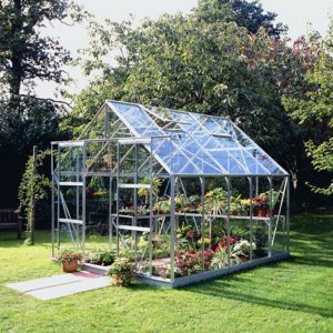 Image of B&Q Metal 8x10 Toughened safety glass greenhouse