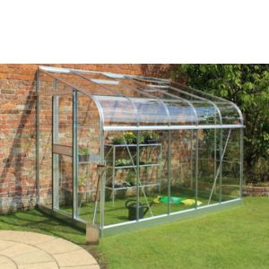 Image of B&Q Metal 10x6 Toughened safety glass Lean-To greenhouse