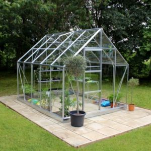 View B&Q 8X10 HG Greenhouse details