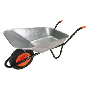 View B&Q Premier Black 85L Wheelbarrow details