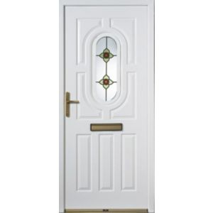 View Acacia Partially Glazed RH Composite Front Door & Frame (H)2085mm (W)920mm details