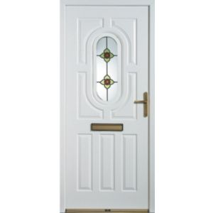 View Acacia Partially Glazed LH Composite Front Door & Frame (H)2085mm (W)920mm details
