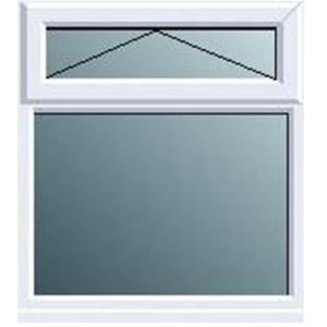 View White PVCu Top Hung over Fixed Lite Window (H)1120mm (W)905mm details