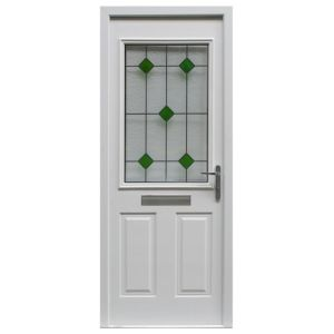 View Arlington Partially Glazed LH PVCu Front Door & Frame (H)2085mm (W)920mm details