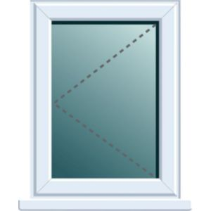 Image of White PVCu LH Side hung Window (H)820mm (W)620mm
