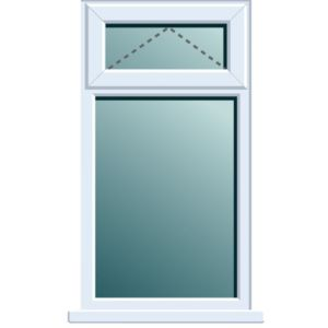 View White PVCu Top Hung over Fixed Lite Window (H)970mm (W)905mm details