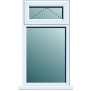 View White PVCu Top Hung over Fixed Lite Window (H)1120mm (W)620mm details