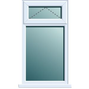 View White PVCu Top Hung over Fixed Lite Window (H)820mm (W)620mm details
