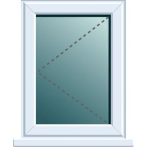 View White PVCu LH Side Hung Window (H)970mm (W)620mm details