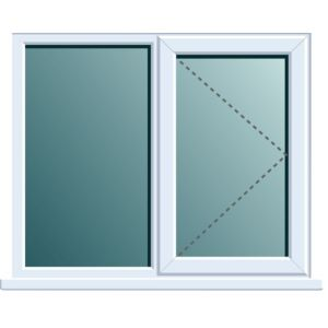 View White PVCu RH Side Hung with Fixed Lite Window (H)1120mm (W)1190mm details
