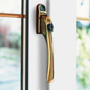 View B&Q Gold Effect Window Handle details