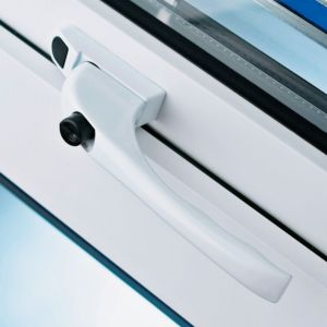 View B&Q White Lockable Window Handle details