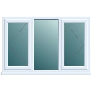 View White PVCu Double Side Hung with Centre Fixed Lite Window (H)970mm (W)1760mm details