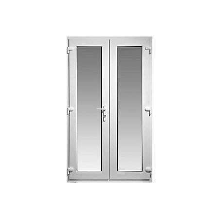 Wimborne 1 lite clear glazed pvcu external folding french for French doors 1190