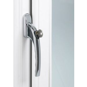 View B&Q Chrome Lockable Window Handle details
