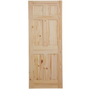View 6 Panel Knotty Pine Internal Unglazed Door, (H)1981mm (W)762mm details