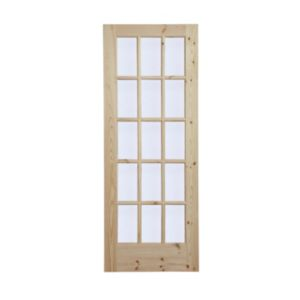 View 15 Lite Knotty Pine Fully Glazed Internal Glazed Door, (H)2032mm (W)813mm details