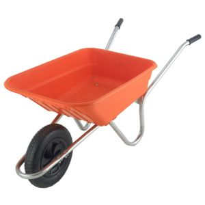 View B&Q Sovereign Orange 90L Wheelbarrow details