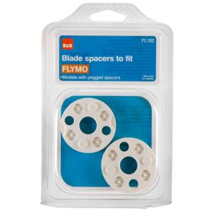 View B&Q White Blade Spacers, Pack of 2 details