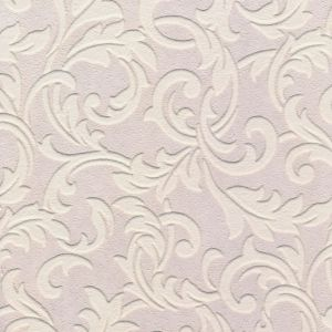 View B&Q Paste The Paper Scroll Vinyl White Wallpaper details
