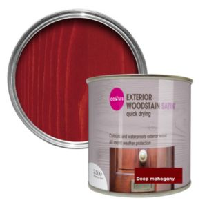 View B&Q Quick Drying Deep Mahogany Satin Woodstain 2.5L details