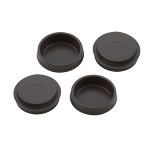 View B&Q Brown Plastic Castor Cup (Dia)54mm, Pack of 4 details