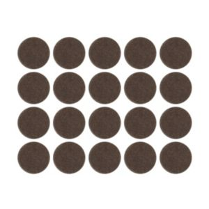 View B&Q Brown Felt Self Adhesive Pad Protector (Dia)16mm, Pack of 20 details