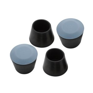 View B&Q Black Rubber Castor Cup (Dia)18mm, Pack of 4 details
