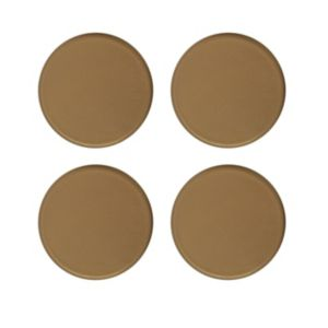 View B&Q Brown Plastic Self Adhesive Glide (Dia)34mm, Pack of 4 details