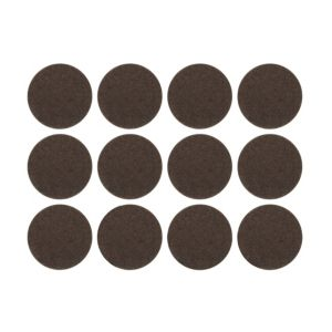 View B&Q Brown Felt Self Adhesive Pad Protector (Dia)22mm, Pack of 12 details