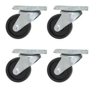 View B&Q Plate Fitting Swivel Castor, Pack of 4 details