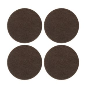 View B&Q Brown Felt Self Adhesive Pad Protector (Dia)34mm, Pack of 4 details