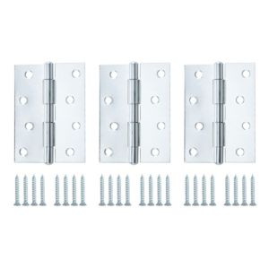 View Zinc Effect Metal Butt Hinge, Pack of 3 details