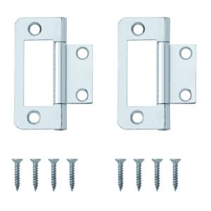 View Zinc Effect Metal Flush Hinge, Pack of 8 details