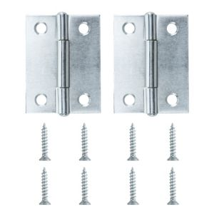 View Lightweight Zinc Effect Metal Butt Hinge, Pack of 2 details