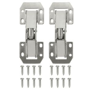 View Nickel Effect Metal Lay On Sprung Hinge, Pack of 2 details