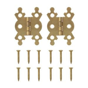 View B&Q Brass Effect Butterfly Hinge (W)38mm details