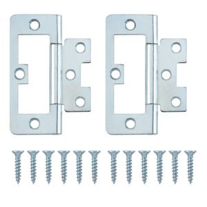 View Zinc Effect Metal Flush Hinge, Pack of 2 details