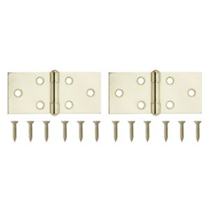 View Brass Effect Metal Backflap Hinge, Pack of 2 details