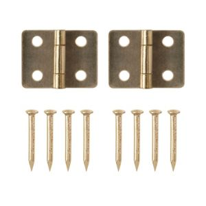View Brass Effect Metal Butt Hinge, Pack of 2 details