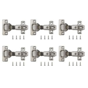 View Nickel Effect Metal Sprung Concealed Hinge, Pack of 6 details