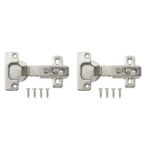 View Nickel Effect Metal Sprung Concealed Hinge, Pack of 2 details