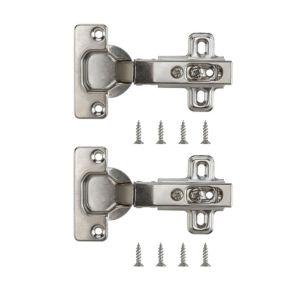 Nickel Effect Metal Unsprung Concealed Hinge  Pack of 2