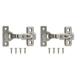 View Nickel Effect Metal Unsprung Concealed Hinge, Pack of 2 details
