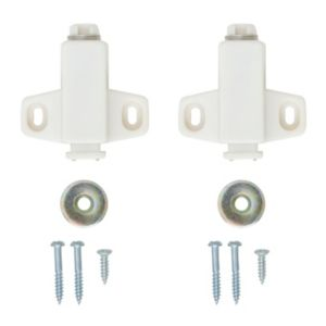 View B&Q White Magnetic Catch, Pack of 2 details