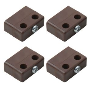 View B&Q Brown Polypropylene Locking Joint (L)36mm, Pack of 4 details